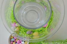 Potter Barn Double-Bowl Vase Hurricane, Easter Centerpiece
