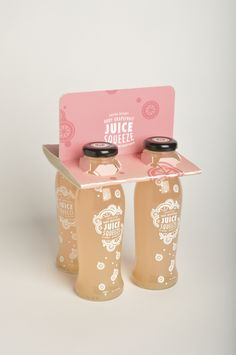 Beverage Re-Design: Juice Squeeze bottles and carrier by Sara Stanger