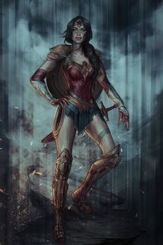 Diana of Themyscira by jasric A lot like the Batman V Superman Wonder Woman with the no pants look which I like that they avoided that.