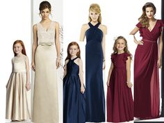 matching flowergirl and bridesmaid dresses