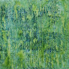What Lies Beneath the Surface / Encaustic on panel....Elise Kirkpatrick