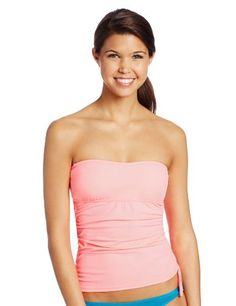 60575bbeeea Hurley Juniors Solid Bandini Bikini Top Pink Large    You can find more  details by visiting the image link.