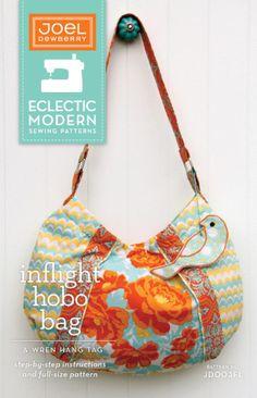 Inflight Hobo Bag Pattern by Joel Dewberry