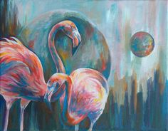 Flamingos by BriannaAngelakis on Etsy