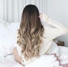 Schöne Haare Ombrelook Braun Grau