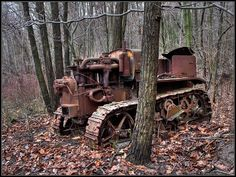 Tractor left in time