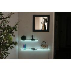 LED Glasregal Wandregal Leuchtregal G-Shelf 100 cm weiss/blau: Amazon.de: Küche & Haushalt