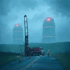 Simon Stålenhag paints a retro dystopian Sweden with futuristic technologies and absurdities