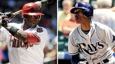 The Upton brothers hit their respective 100th career home run just minutes apart from each other on August 3, 2012 - Tampa Bay Rays vs. Baltimore Orioles & Arizona Diamondbacks @ Philadelphia Phillies.