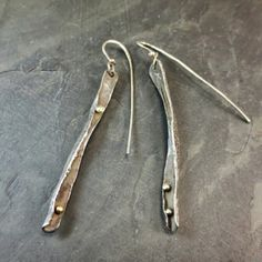Steinhagens- Forged Earrings from Oxidize Metal Art Gallery for $175 on Square Market
