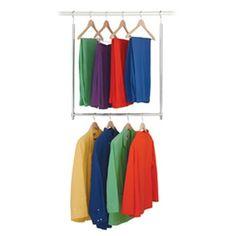 Effectively double your closet hanging space with this smart Closet Doubler! Smart Closet, Closet Bar, Kid Closet, Closet Storage, Closet Organization, Wardrobe Closet, Closet Space, Closet Ideas, Nursery Organization
