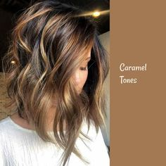 Caramel tones and soft waves