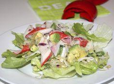 Romige krabsalade met avocado