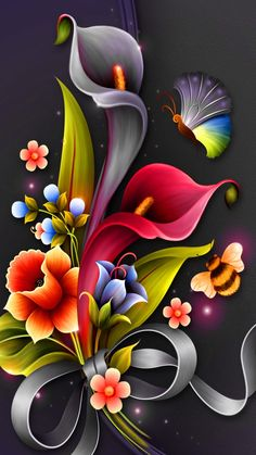 Wallpaper Nature Flowers, Beautiful Flowers Wallpapers, Flower Phone Wallpaper, Beautiful Nature Wallpaper, Butterfly Wallpaper, Cellphone Wallpaper, Colorful Wallpaper, Iphone Wallpaper, Mobile Wallpaper