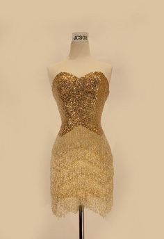 Elegant Red Carpet Prom Gold Short Homecoming Prom Designer Sequins Dress Fancy | eBay