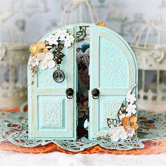 Mini Scrapbook Albums, Scrapbook Paper Crafts, Scrapbook Cards, Scrapbooking, My Fairy Garden, Fairy Box, Wiccan Altar, Girls Album, Mini Album Tutorial