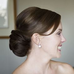 Low bun; may be better to add my veil to.                                                                                                                                                                                 More