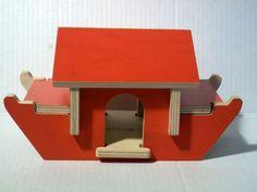 Creative Playthings Noahs Ark Wooden Building Toy Set W Animals 31 Pcs | eBay listing by hiddentreasureseverywhere