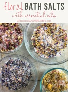 DIY Floral Bath Salts {with essential oil}