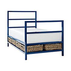blue modern simple boys bed