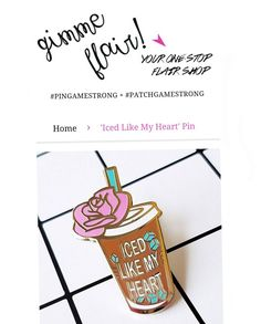 HOLY SMOKES! We are all SOLD OUT of our Iced Like My Heart #icedcoffee pins!  Fear not we have a restock coming soon. Till then head on over to @gimmeflair. She still has some available in her shop! . . . . . . . . #gimmeflair #flair #pins #pingamestrong #enamelpin #lapelpin #lapelpins #accessories #hardenamel  #icedcoffee #icedlikemyheart #coffeepin #illustrator #kawaii #pingame #pinstagram #pin #pinlord #pindesign #pantone  #pincommunity #coffeemug #pms #flairgame #pindemic #coffee…