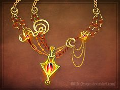 Halsketting voor de lichtfeeën. Alle feeën hebben er een andere, dit is één van de vele exemplaren bij Rittik-Designs van DeviantArt