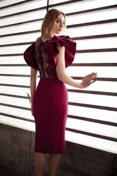 Wine red party dress O-Neck Prom Dress Big bubble sleeve homecoming dr – Alison Dress Simple Dresses, Elegant Dresses, Cute Dresses, Casual Dresses, Short Dresses, Fashion Dresses, Formal Dresses, Prom Party Dresses, Homecoming Dresses