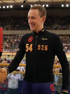 'Rapha' jacket I made for Bradley Wiggins for his '#MYHOUR' world record attempt at the velodrome, London, June 2015. Speed sewing on the numbers was a hair raising experience to say the least!