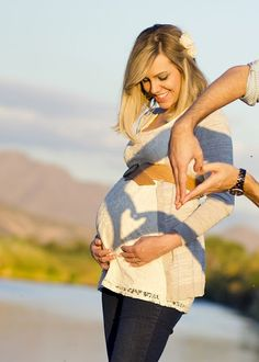 What a great idea for a pregnant picture!