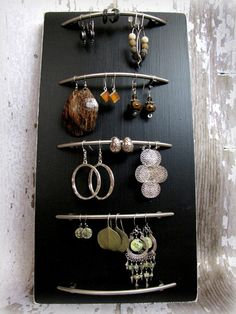 http://fashionpin1.blogspot.com - Jewlery Organization meets artwork!  Beautiful way to display gorgeous jewelry!