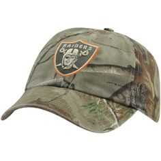 '47 Brand Oakland Raiders Clean Up Adjustable Hat - Realtree Camo/Orange