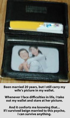 funny-wallet-marriage-picture-survival--I think I'll make a card for Rusty that says 'If you can survive being married to me, you can survive anything'