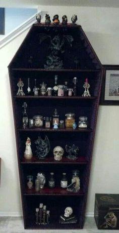 Very cool Halloween display case!