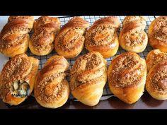 Булочки огонь! ОРЕХОВЫЕ ЗАВИТУШКИ,просто как десерт! Ореховая начинка, как в кондитерской! - YouTube Bagel, Bread, Baking, Food, Youtube, Brot, Bakken, Essen, Meals