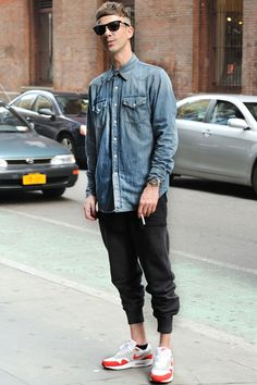 Fucking Young! » NYC #13 by Monsieur Jerome, James (29 - Artist) Shirt by Margiela, Tshirt by Rick Owens, Pants by Alexander Wang and Sneakers by Nike  #kicks#sneakers#shoes #sports #lifestyle #men #urban #streetstyle #hipster #trendy #fashionable #metromen #style #sportshoes #hip