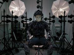 Andy Serkis as Supreme Leader Snoke behind the scenes on #StarWars #TheForceAwakens (2015).