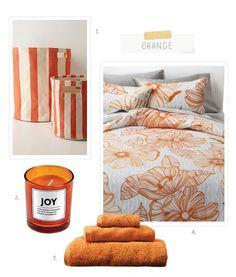 Dorm Room Décor Guide: Orange @Anthropologie @Target Dorm Room Necessities, Dorm Essentials, Preppy Dorm Room, Dorm Room Colors, Orange Rooms, Orange Home Decor, Dorm Room Designs, Dorm Room Organization, College Dorm Rooms
