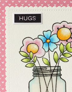 Peppermint Patty's Papercraft: Butterfly Reflections Ink; Hugs!