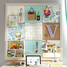 MEMO BOARD WITH CUBBY (GREAT FOR DORM ROOM)