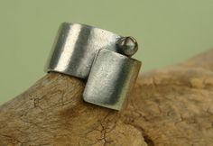 Fine Silver Wrap Around Ring - PMC - Satin Finish