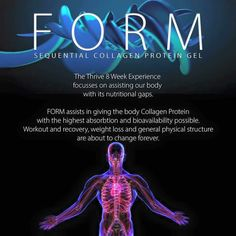 Launching in MARCH 2016!  The worlds first hybrid product of its kind... SGT Thrive line presents FORM! A Sequential COLLAGEN for weight loss, weight management, lean muscle support, exercise recovery and so much more! www.rakellnash.le-Vel.com