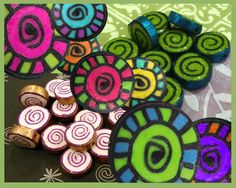 Gratitude Spiral Polymer Clay Cane by Candace Jedrowicz - Hero Shot