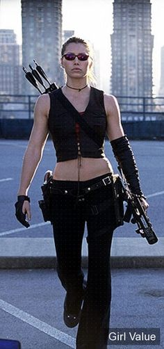Blade Trinity's Abigail Whistler (Jessica Biel); Jessica Biel, Badass Women, Sexy Women, Warrior Girl, Warrior Women, Justin Timberlake, Female Characters, Strong Women, American Actress