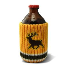The Drink Toque - Stag Party Classic, vintage-style, knit koozie. Deer Crossing, Vintage Fashion, Vintage Style, Christmas Ornaments, Knitting, Holiday Decor, Classic, Party, Drink