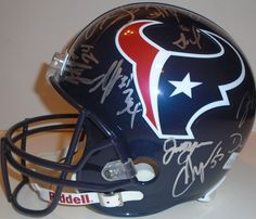 2013 Houston Texans team signed Riddell full size football helmet w/ proof photo. Proof photos of the Texans signing will be included with your purchase along with a COA issued from Southwestconnection-Memorabilia, guaranteeing the item to pass authentication services from PSA/DNA or JSA. Free USPS shipping. www.AutographedwithProof.com is your one stop for autographed collectibles from Houston sports teams. Check back with us often, as we are always obtaining new items.