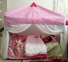 Repurpose of pack n play to a reading and napping tent!