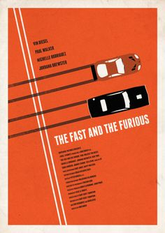 'The Fast and The Furious' minimalist poster