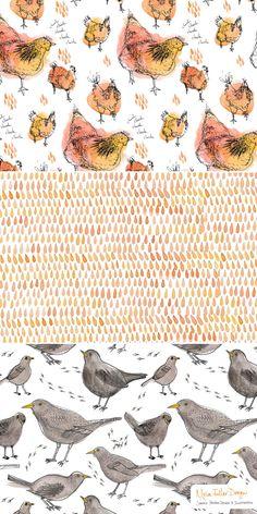 Moira Fuller Design - freelance surface pattern designer   Chickens Cluck Cluck Peck Peck