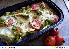 Zapečená brokolice s těstovinami recept - TopRecepty.cz Sprouts, Mashed Potatoes, Eggs, Meat, Chicken, Vegetables, Breakfast, Ethnic Recipes, Food