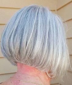 60 Gorgeous Gray Hair Styles Layered Gray Bob For Older Women Medium Bob Hairstyles, Short Bob Haircuts, Hairstyles Haircuts, Cool Hairstyles, Trendy Haircuts, Gorgeous Hairstyles, Modern Hairstyles, Haircut For Older Women, Short Hairstyles For Women